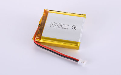 Rechargeable Li-Po Batteries LP114545 1700mAh with PCM and wires 35mm and JST PHR-2