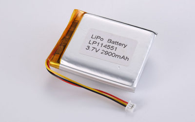 11mm Li Poly Batteries LP114551 2900mAh with PCM and NTC and wires 55mm and JST ACHR-03V-S