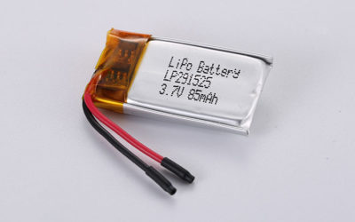 3.7V LiPo Batteries LP291525 3.7V 85mAh 0.31Wh with protection circuit and wires 20mm