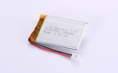 Li Poly Battery LP303450 3.7V 500mAh 1.85Wh with protection circuit and wires 50mm and JST PHR-2