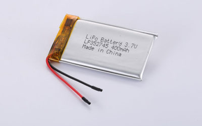 Li-Poly Battery LP352745 3.7V 400mAh 1.48Wh with protection circuit and wires 30mm