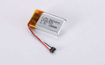 LiPo Battery LP381525 3.7V 100mAh 0.37Wh with PCM & NTC & wires 30mm & Molex 78172-0003