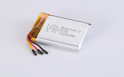Li-Po Battery LP402535 3.7V 320mAh 1.18Wh with protection circuit & NTC & wires 10mm