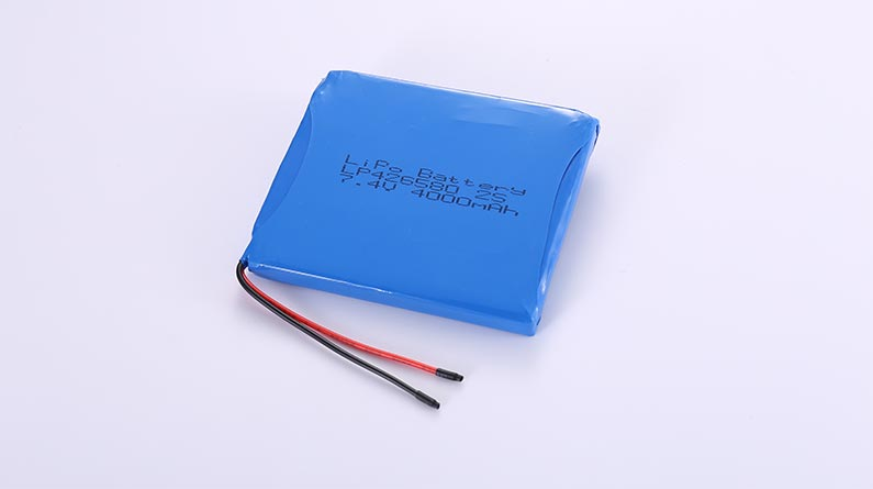 LiPo Battery Pack LP426580 2S 7.4V 4000mAh 29.6Wh with protection circuit and wires 70mm