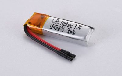 Best Li Polymer Battery LP450824 3.7V 55mAh 0.2Wh with protection circuit and wires 50mm