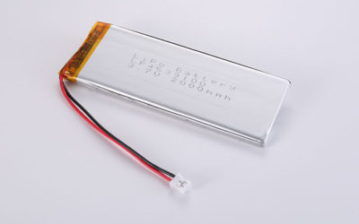 Hot Li-Poly Battery LP4639100 3.7V 2000mAh 7.4Wh with protection circuit, wires 30mm and JST PHR-2