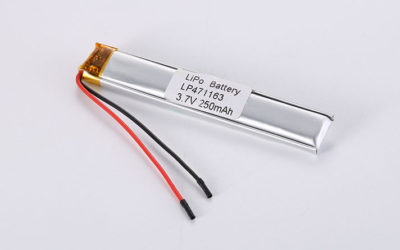 3.7V Li-Po Battery LP461417 3.7V 70mAh 0.26Wh with protection circuit and wires 15mm
