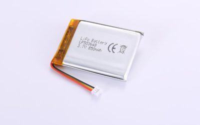Li-Poly Battery LP503648 3.7V 850mAh with protection circuit and wires 40mm and Molex 51021-0200