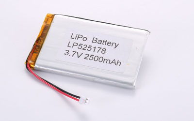 Best Li Polymer Battery LP525178 3.7V 2500mAh 9.25Wh with PCM and wires 50mm and JST ACHR-02V-S
