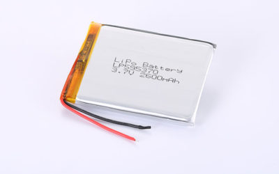 Li Po Battery LP595370 3.7V 2600mAh 9.6Wh with protection circuit and wires 50mm