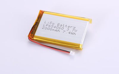 Lithium Poly Battery LP654060 3.7V 2000mAh 7.4Wh with protection circuit and wires 50mm and Molex 51021-0200