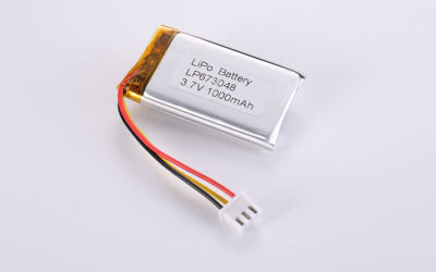 Li-Po Batteries LP673048 3.7V 1000mAh 3.7Wh with PCM, NTC and wires 50mm and JST PHR-3