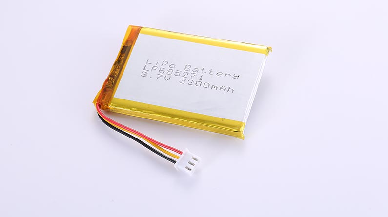 LiPo Battery LP685271 3.7V 3200mAh with protection circuit and wires 50mm and JST XHR-3