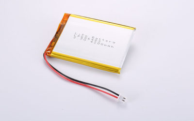 LiPoly Batteries LP686483 4200mAh 15.54Wh with PCM and wires 100mm and JST PHR-2