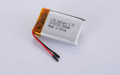 Hot Li-Po Battery LP702332 500mAh with protection circuit and wires 20mm