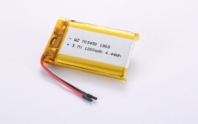 Cheap Lithium Poly Battery LP703450 1200mAh with protection circuit and wires mm