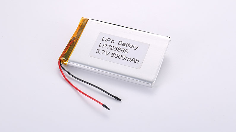 Popular Li Polymer Battery LP725888 5000mAh with protection circuit and wires 50mm