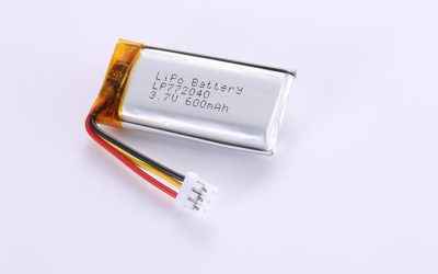Li Po Battery LP772040 3.7V 600mAh with protection circuit and wires 30mm and JST PHR-3