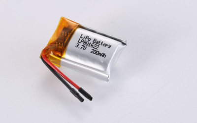 Lithium Polymer Ion Battery LP801622 3.7V 200mAh 0.74Wh with PCM and wires 20mm