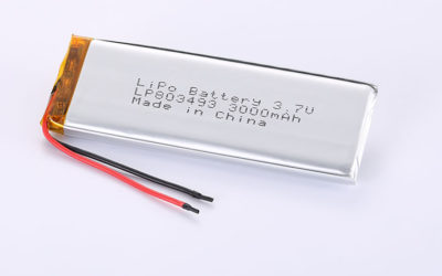 Best LiPo Batteries LP803493 3.7V 3000mAh 11.1Wh with protection circuit and wires 50mm