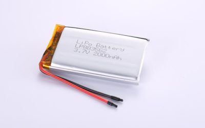 Li-Po Battery LP883562 3.7V 2000mAh 7.4Wh with protection circuit and wires 50mm