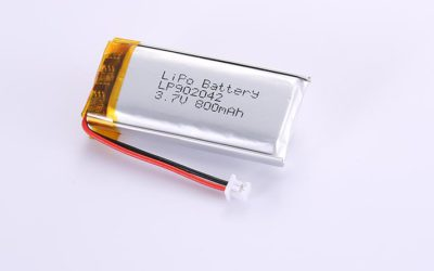 LiPo Battery LP902042 3.7V 800mAh with protection circuit and wires 40mm and Molex 51021-0200