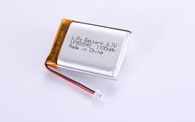 Li-Po Battery LP903040 3.7V 1100mAh with protection circuit and wires 35mm and JST SHR-02V-S