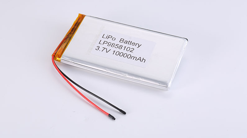 Li-Po Battery LP9858102 10000mAh with protection circuit and wires 90mm