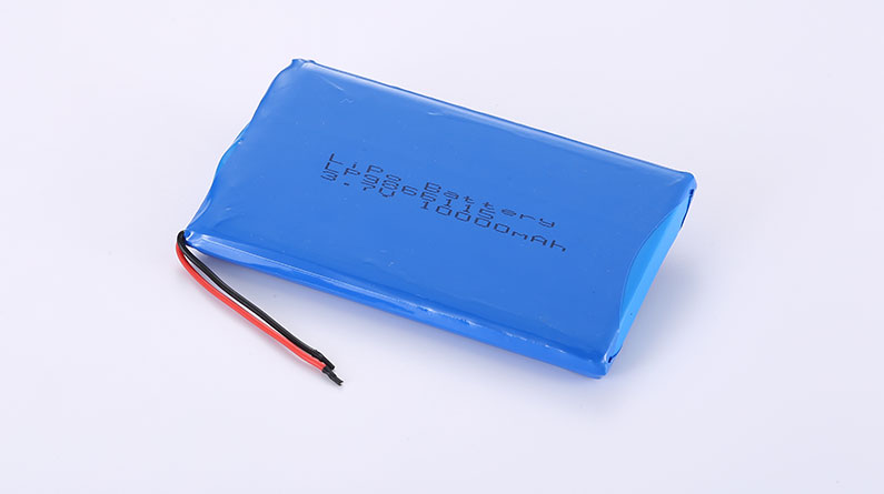 Li-Polymer Battery LP9866115 10000mAh with protection circuit and wires 50mm