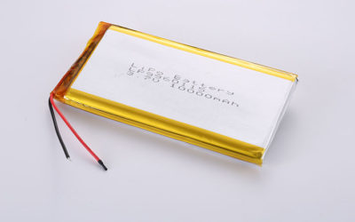 Lithium Polymer Battery LP9960115 10000mAh with protection circuit and wires 30mm