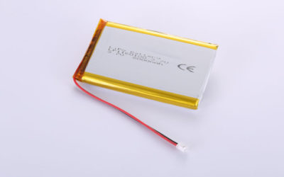 Li-Poly Battery LP1160100 3.7V 8000mAh 29.6Wh with protection circuit & wires 100mm & JST PHR-2