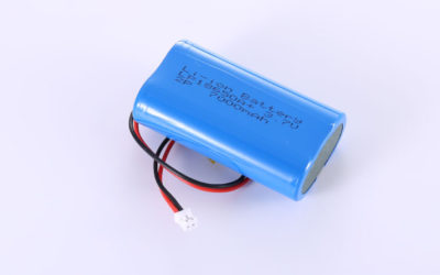 Li-ion Battery LP18650A+ 2P 3.7V 7000mAh 25.9Wh with protection circuit and wires 70mm and JST PHR-2