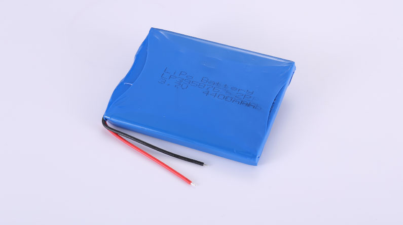 Li-Poly Battery Pack LP395876 2P 3.7V 4400mAh 16.28Wh with protection circuit & wires 50mm