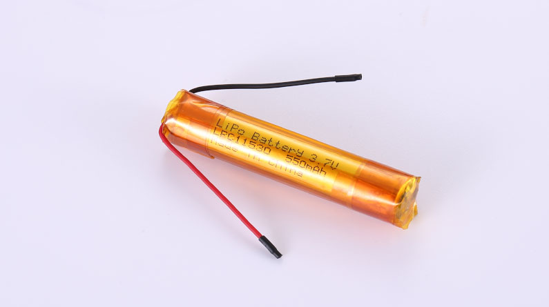 LiPo Battery LPC11530 3.7V 550mAh 2.04Wh without protection circuit, with wires 30mm