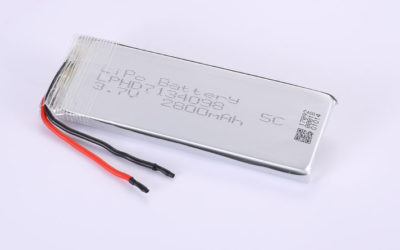 Li-Polymer Battery LPHD7134098 3.7V 2800mAh 10.36Wh with protection circuit and wires 50mm