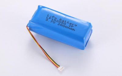 LiPo Battery LP102050 2P 3.7V 2000mAh 7.4Wh with protection circuit and 10K NTC and wires 50mm and JST ACHR-03V-S
