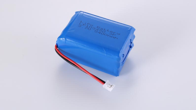LiPo Battery LP103450 3P 3.7V 5400mAh 19.98Wh with protection circuit and wires 50mm and JST PHR-2