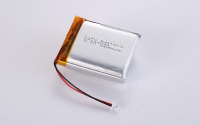LiPo Battery LP144044 3.7V 2400mAh 8.88Wh with protection circuit and wires 50mm and Molex 51021-0200