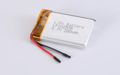 LiPo Battery LP302535 3.7V 200mAh 0.74Wh with protection circuit and wires 25mm