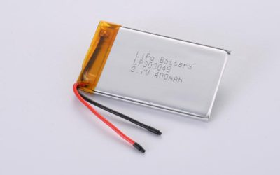 LiPo Battery LP303048 3.7V 400mAh 1.48Wh without protection circuit, but with wires 30mm