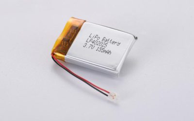 LiPo Battery LP402025 3.7V 155mAh 0.57Wh with protection circuit and wires 30mm and JST ACHR-02V-S