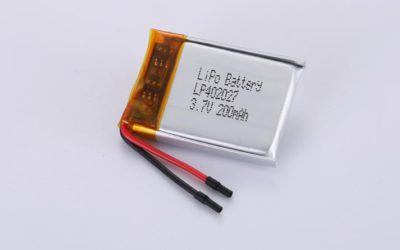 LiPo Battery LP402027 3.7V 200mAh 0.74Wh with protection circuit and wires 15mm
