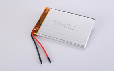 LiPo Battery LP405070 3.7V 1620mAh 6.0Wh with protection circuit and wires 40mm