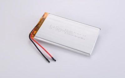 LiPo Battery LP405085 3.7V 1950mAh 7.22Wh with protection circuit and wires 20mm