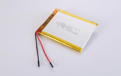 LiPo Battery LP425468 3.7V 1800mAh 6.66Wh with protection circuit and wires 50mm