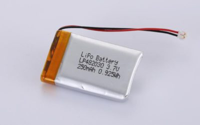 LiPo Battery LP482030 3.7V 250mAh 0.93Wh with protection circuit and wires 50mm and JST ACHR-02V-S