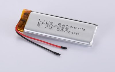LiPo Battery LP502058 3.7V 580mAh 2.15Wh with protection circuit and wires 40mm