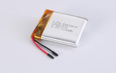 LiPo Battery LP502832 3.7V 480mAh 1.78Wh with protection circuit and wires 20mm
