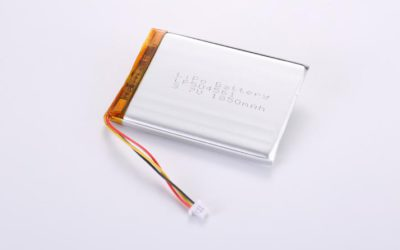 LiPo Battery LP504561 3.7V 1850mAh 6.85Wh with protection circuit and wires 50mm and 10K NTC and Molex 51021-0300