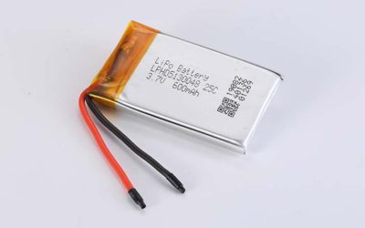 LiPo Battery LPHD5130048 3.7V 600mAh 25C 2.22Wh without protection circuit, with wires 40mm